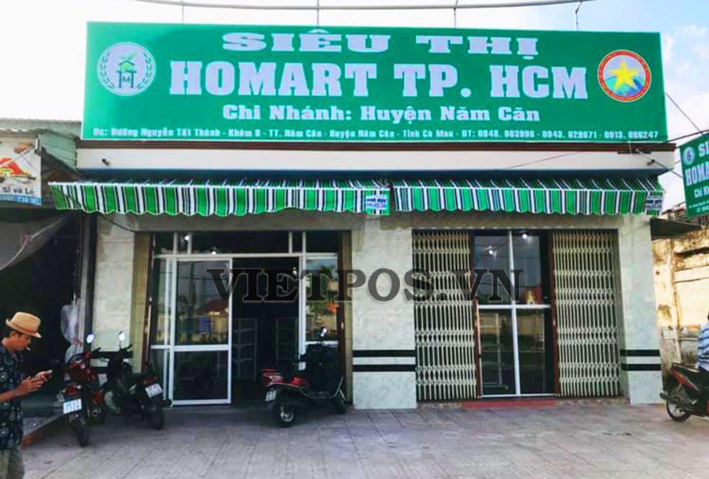 Thiết kế kệ siêu thị VietPos Rack cho HoMart-Cà Mau