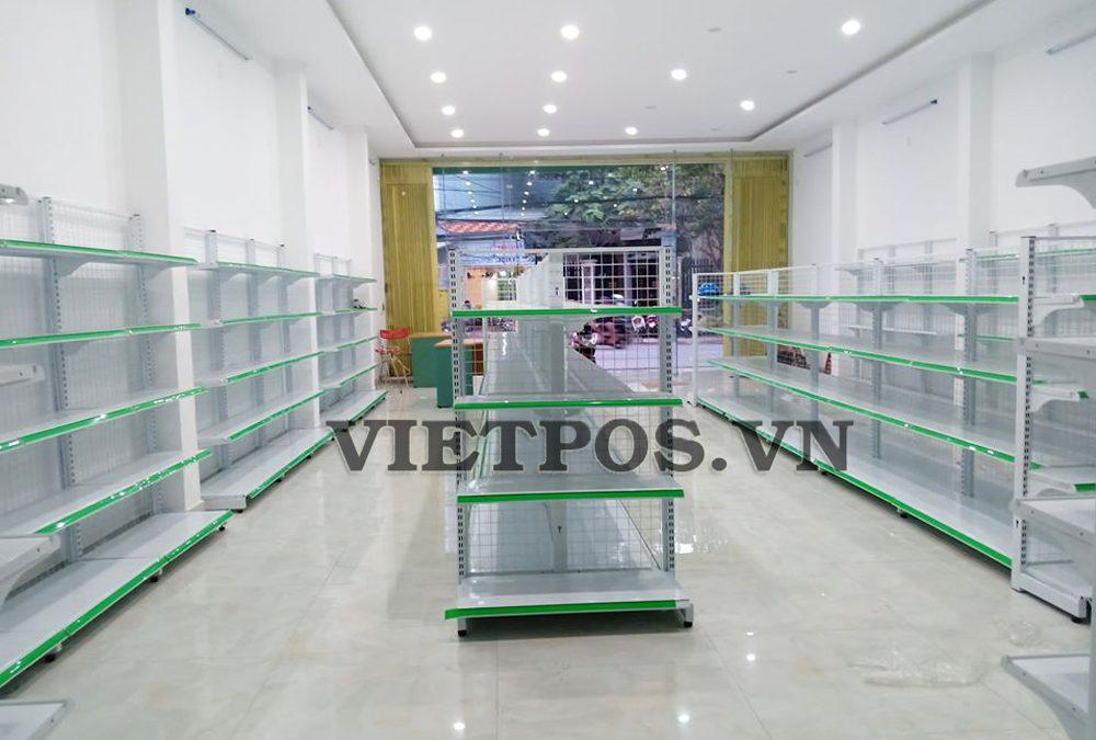 Lắp đặt kệ siêu thị cho cửa hàng MiM-Đà Nẵng