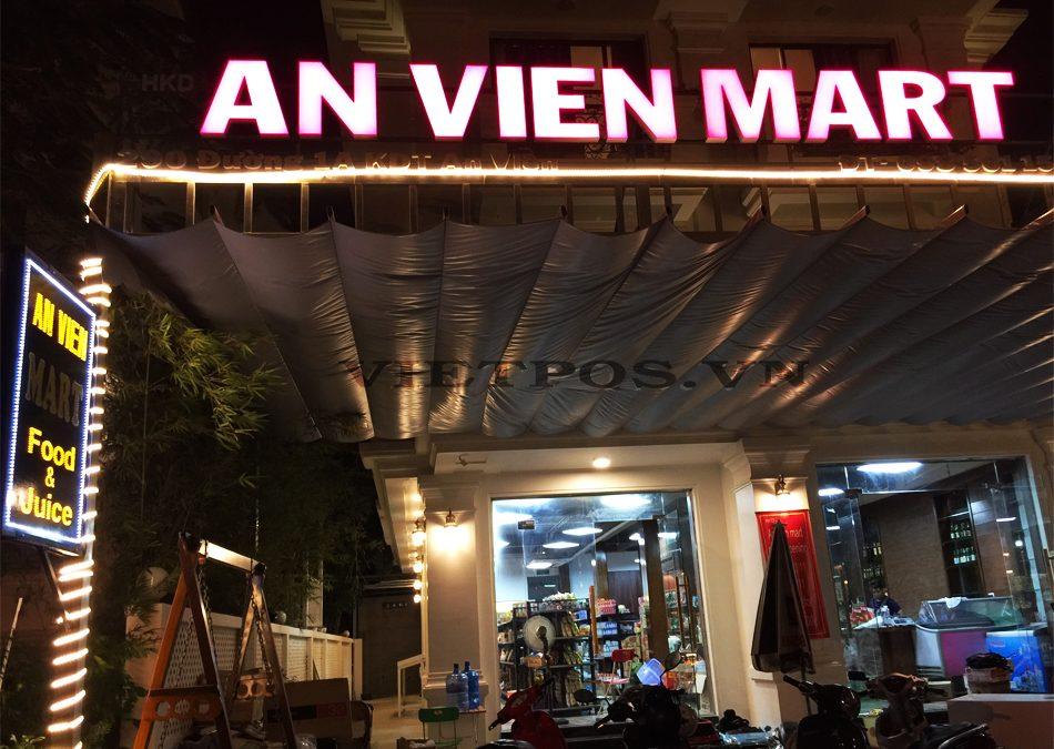 Kệ siêu thị VietPos Rack tại An Viên Mart – Nha Trang