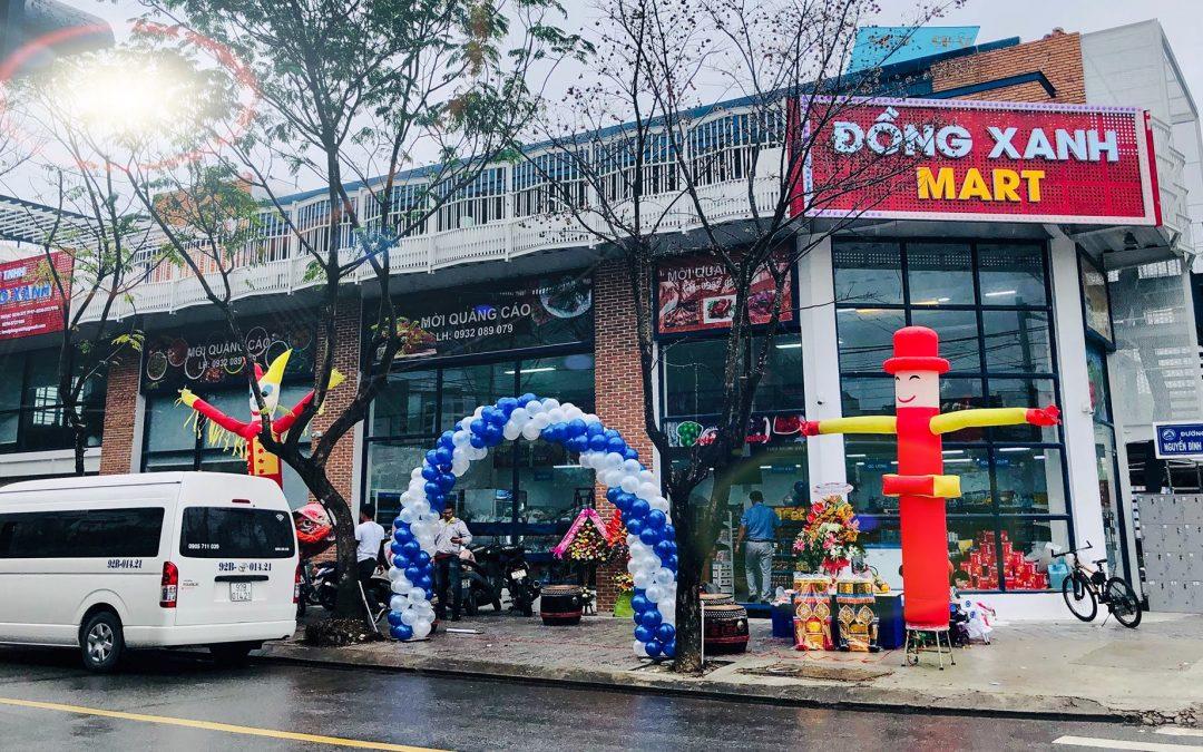 Lắp đặt kệ siêu thị lưới cho Đồng Xanh mart Đà Nẵng