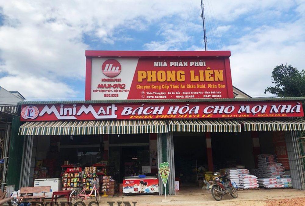 Lắp đặt kệ siêu thị VietPos Rack tại Phong Liên-ĐăkLăk
