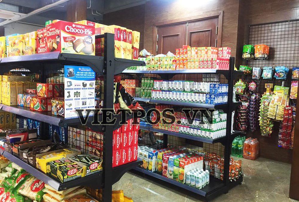 Áp dụng kệ siêu thị cho tạp hóa Cẩm Vân tại Đồng Nai