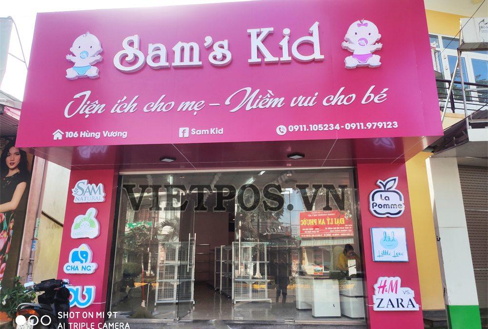 Kệ siêu thị triển khai tại Shop Mẹ và bé-Đông Hà
