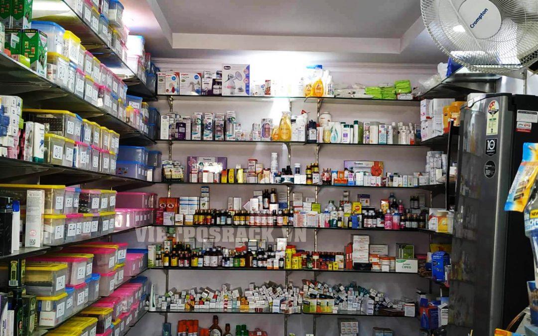 Giá kệ siêu thị cho quầy thuốc Việt Khánh