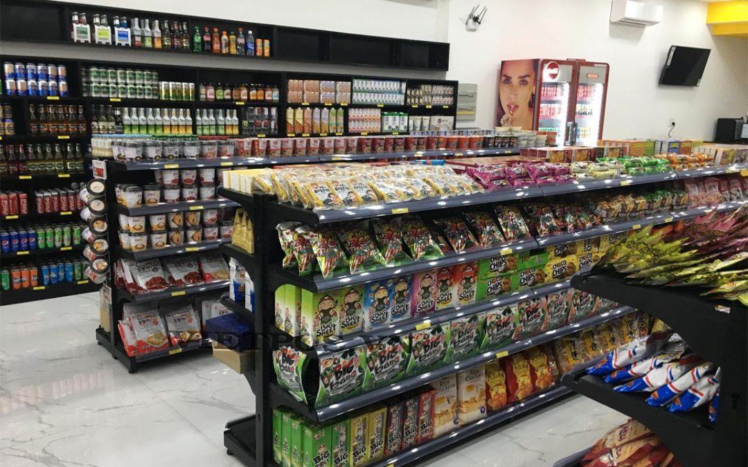 Triển khai kệ lưới siêu thị cho tạp hóa Quốc Thanh