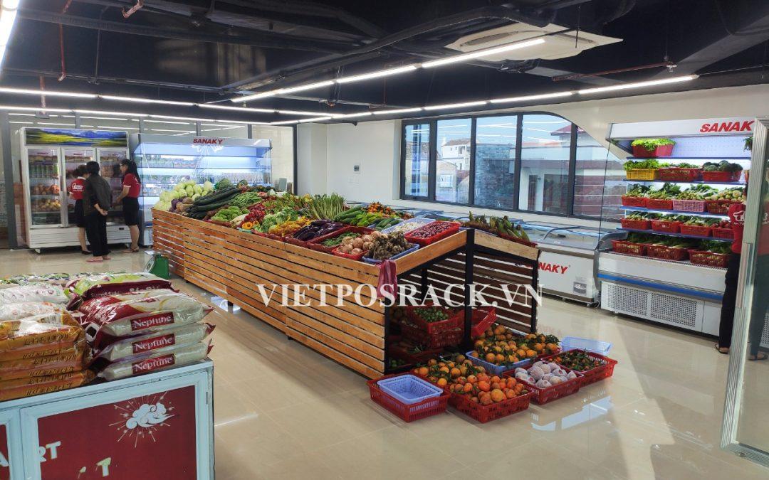 Lắp đặt giá kệ cho cửa hàng trái cây nhập khẩu Biên Hòa