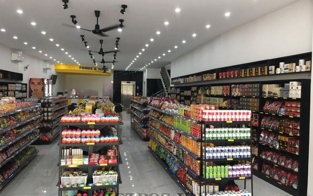 Bách hóa Sao Sáng Bình Dương lắp đặt kệ siêu thị Việt POS RACK